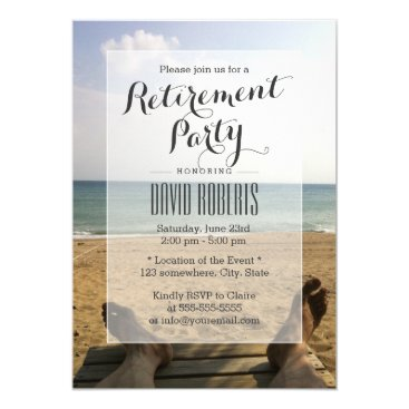 myinvitation Retire on the Beach Retirement Party Invitations