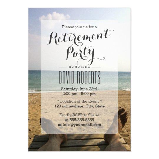retire on the beach retirement party invitations zazzle com