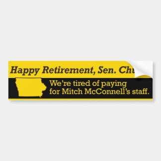Retire Senator Grassley Bumper Sticker