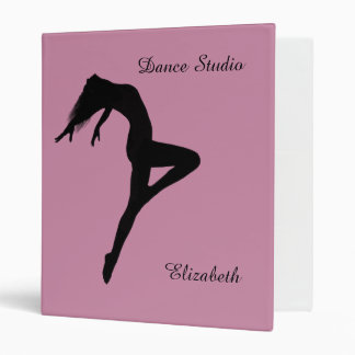 Retire Silhouette Personalized Dance Binder