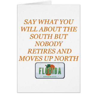 Retire to Florida and the South Card