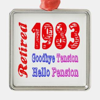 Retired 1983 , Goodbye Tension Hello Pension Ornaments