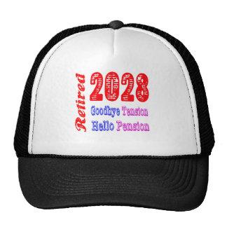 Retired 2028 , Goodbye Tension Hello Pension Trucker Hat