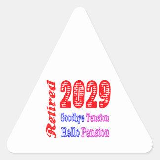 Retired 2029 , Goodbye Tension Hello Pension Sticker