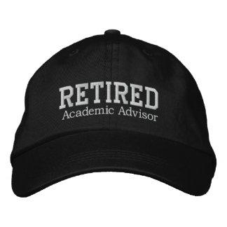 Retired Academic Advisor Embroidered Hat