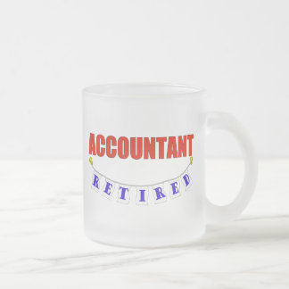 RETIRED ACCOUNTANT FROSTED GLASS COFFEE MUG