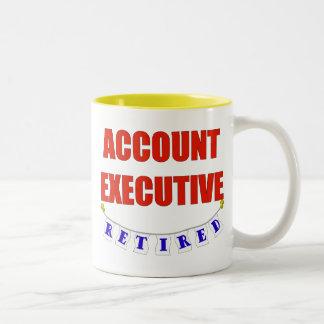 RETIRED ACCT EXEC Two-Tone COFFEE MUG