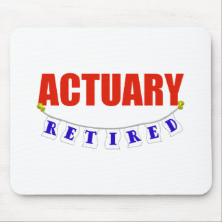 RETIRED ACTUARY MOUSE PAD