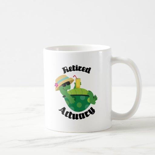 Retired Actuary (Turtle) Coffee Mugs