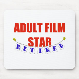 RETIRED ADULT FILM STAR MOUSE PAD