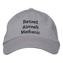Retired Aircraft Mechanic Embroidered Baseball Hat