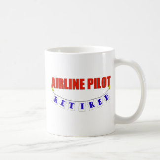 RETIRED AIRLINE PILOT COFFEE MUG