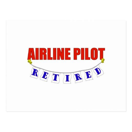 RETIRED AIRLINE PILOT POSTCARD