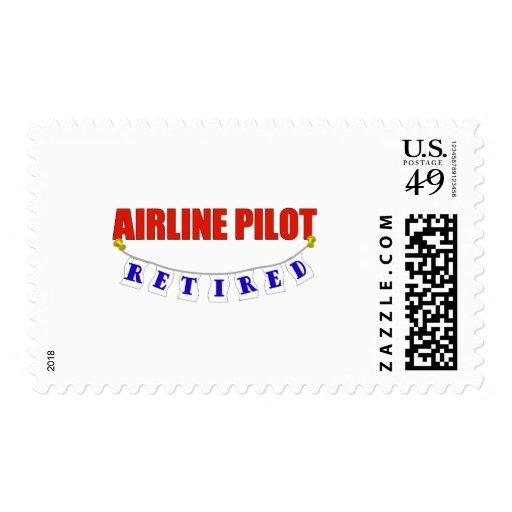 RETIRED AIRLINE PILOT STAMP