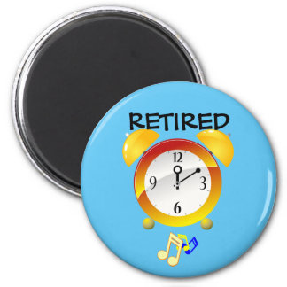 Retired Alarm Clock 2 Inch Round Magnet