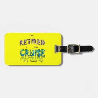 Retired and Cruising Fun in The Sun Bag Tag