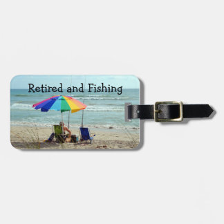 Retired and Fishing Custom Photo Luggage Tag