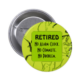 retired and happy buttons
