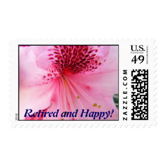 Retired and Happy! postage stamps Flowers Rhodie