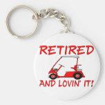 Retired And Lovin' It Basic Round Button Keychain
