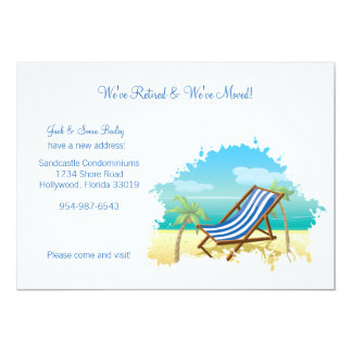 "Retired and Moved Announcement 5"" X 7"" Invitation Card"