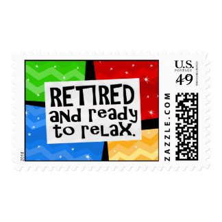 Retired and Ready to Relax, Funny Retirement Postage