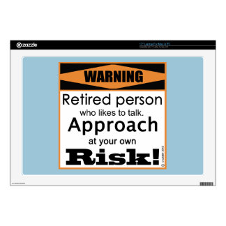 """Retired, Approach At Risk Decal For 17"""" Laptop"""