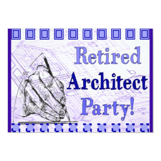 Retired Architect Party Invitations