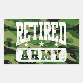 Retired Army Rectangular Stickers
