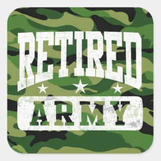 Retired Army Square Sticker