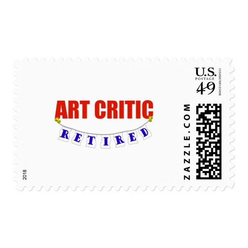 RETIRED ART CRITIC POSTAGE STAMP
