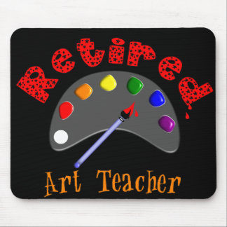 Retired Art Teacher 3D Embossed Style Pallet Mouse Pad
