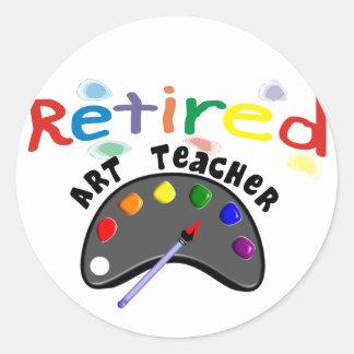 Retired Art Teacher Cards & Gifts Classic Round Sticker