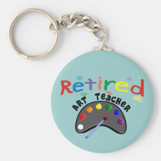 Retired Art Teacher Cards & Gifts Keychain