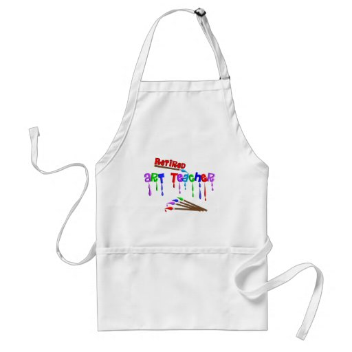 Retired Art Teacher Gifts Adult Apron