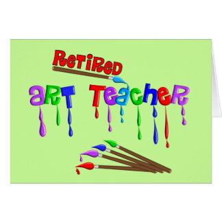 Retired Art Teacher Gifts Card