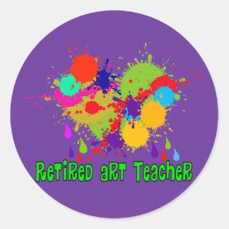 Retired Art Teacher Gifts Classic Round Sticker