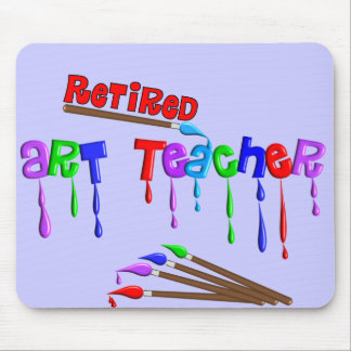 Retired Art Teacher Gifts Mouse Pad
