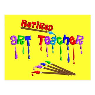 Retired Art Teacher Gifts Postcard
