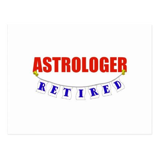 RETIRED ASTROLOGER POSTCARD