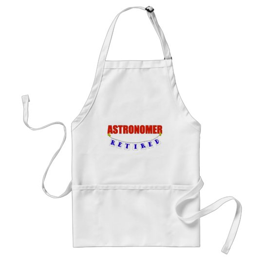 RETIRED ASTRONOMER ADULT APRON