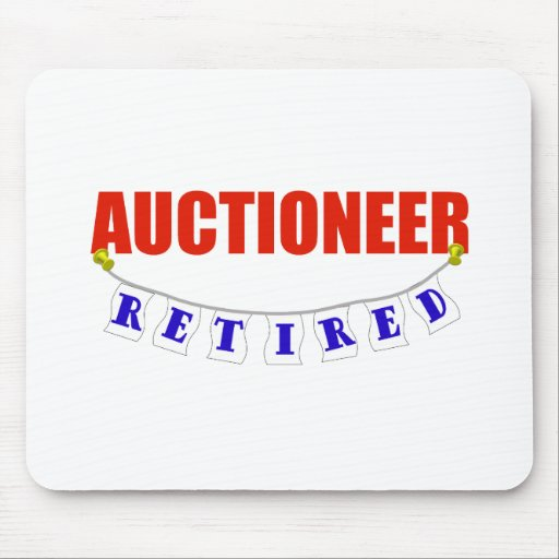RETIRED AUCTIONEER MOUSE PAD