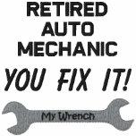 Retired Auto Mechanic Embroidered Shirt