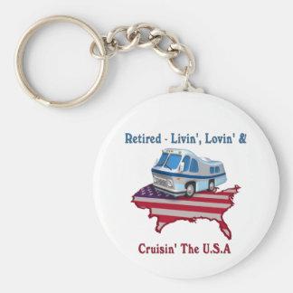 Retired Basic Round Button Keychain
