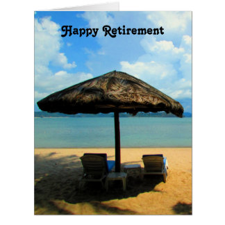 retired beach dream big card