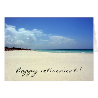retired beach greeting card