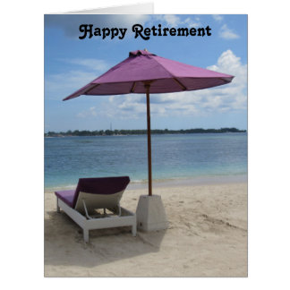 retired beach seat big card