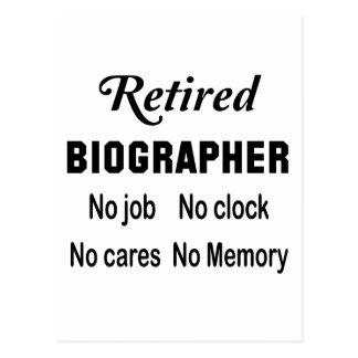 Retired Biographer , No job No clock No cares Postcard