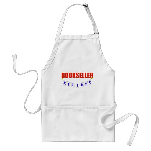 RETIRED BOOKSELLER ADULT APRON