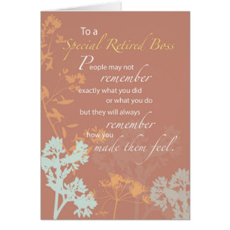 Retired Boss, Boss's Day Brown, Wildflowers Silhou Card
